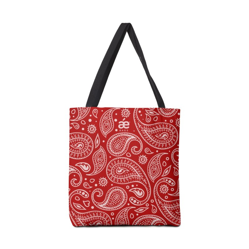 Bandana Red in Tote Bag by æ___bags™