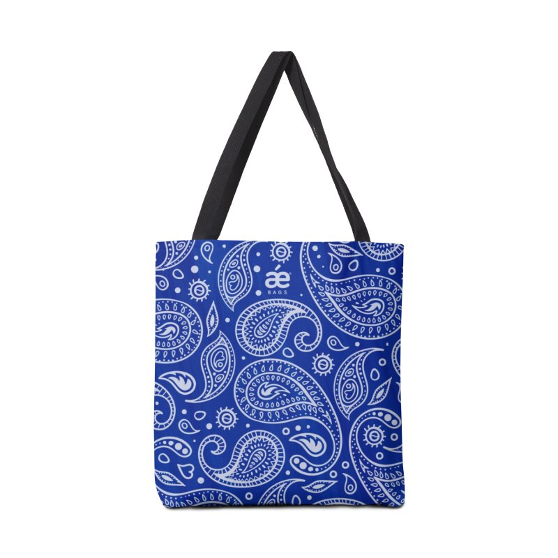 Bandana Blue in Tote Bag by æ___bags™