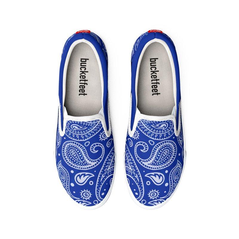 Bandana Blue Women's Shoes by æ___bags™