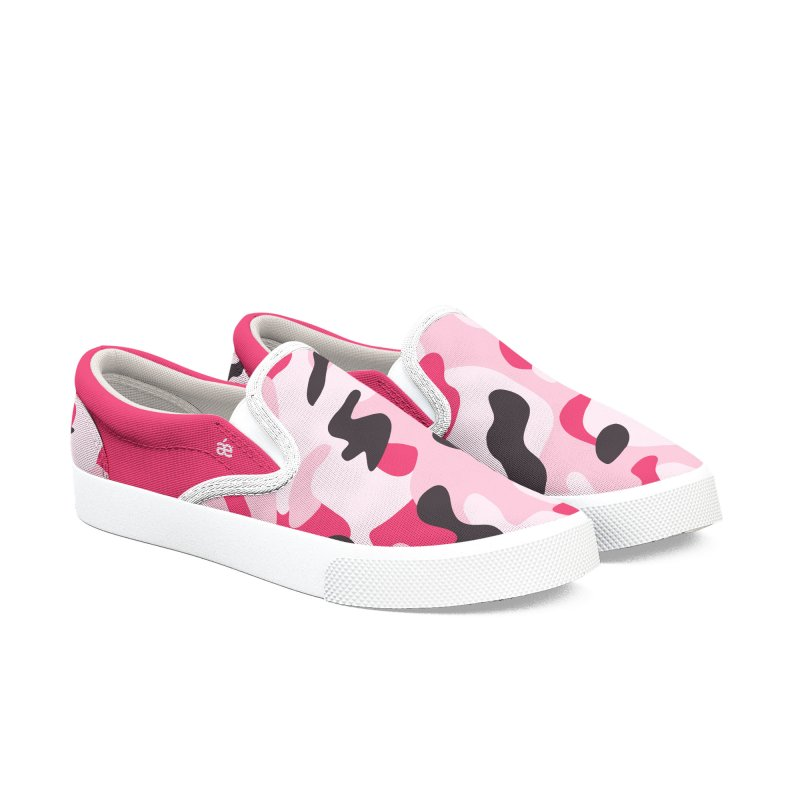 Camo Pink Women's Slip-On Shoes by æ___bags™