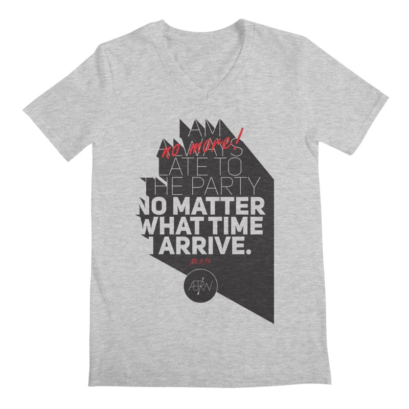 Allways (no more) Late Men's Regular V-Neck by AERW