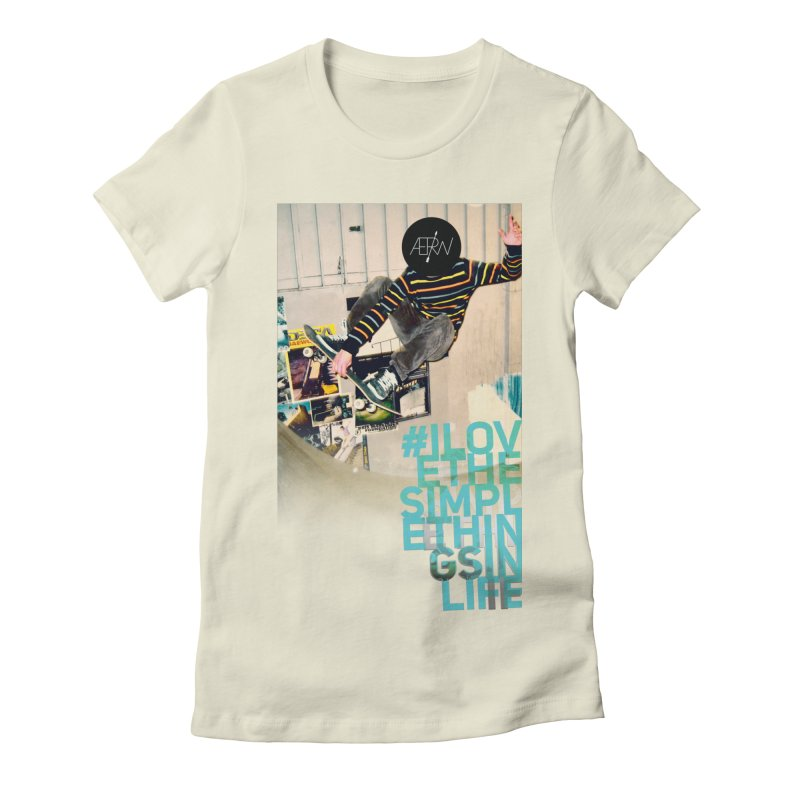 Love The Simple Things Women's Fitted T-Shirt by AERW