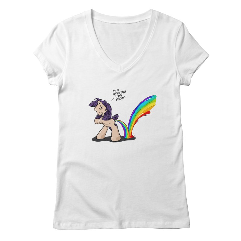 I'm so happy Women's Regular V-Neck by AERW
