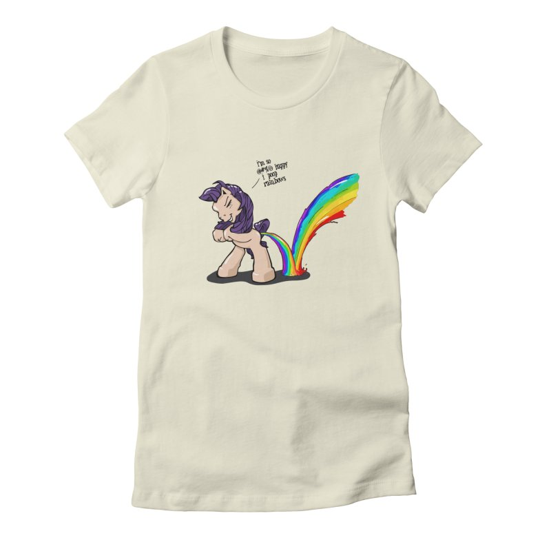 I'm so happy Women's Fitted T-Shirt by AERW