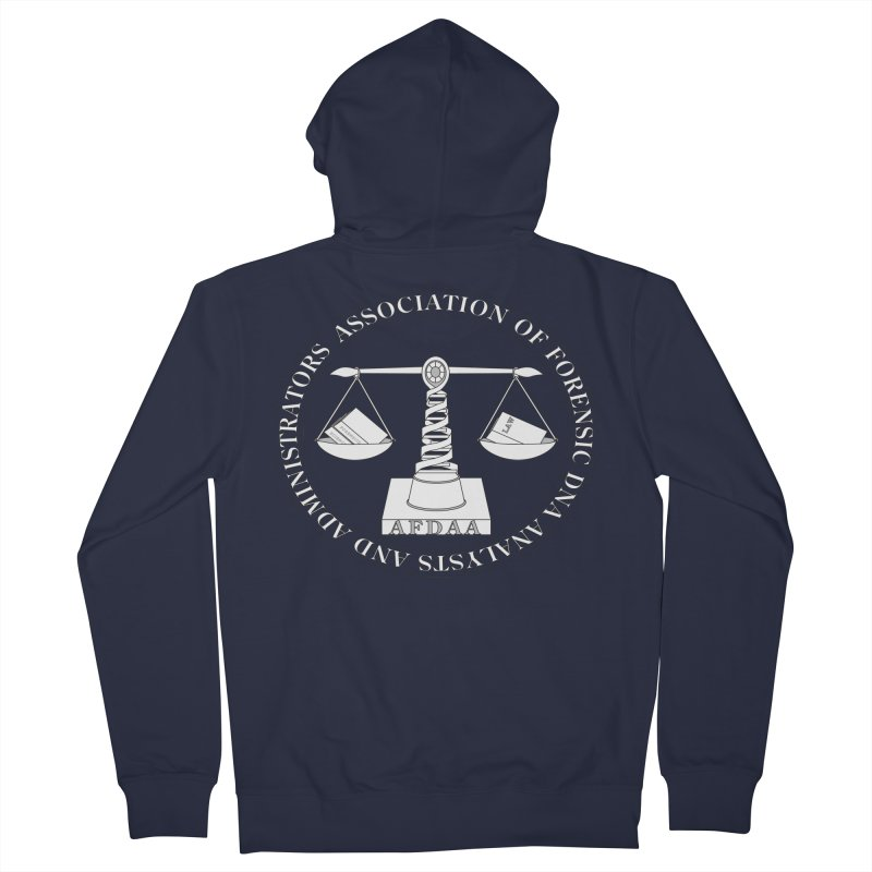 AFDAA Official Logo in Men's Zip-Up Hoody Navy by afdaa's Artist Shop
