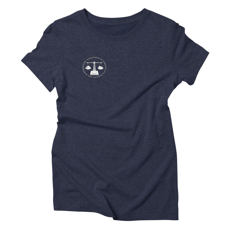 Small logo tee in Women's Triblend T-Shirt Navy by afdaa's Artist Shop