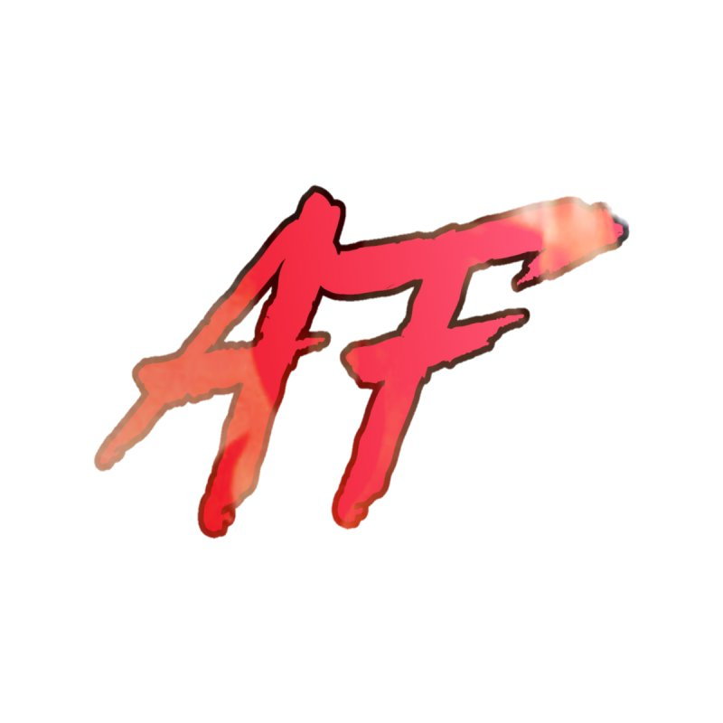 """FIRE"" AF Logo (Limited Edition) Men's Zip-Up Hoody by The Official AFGoblin Merch Store"