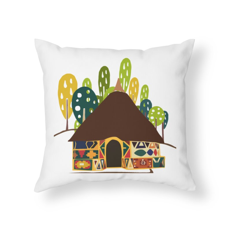 Abode Home Throw Pillow by aflowerchild's Artist Shop