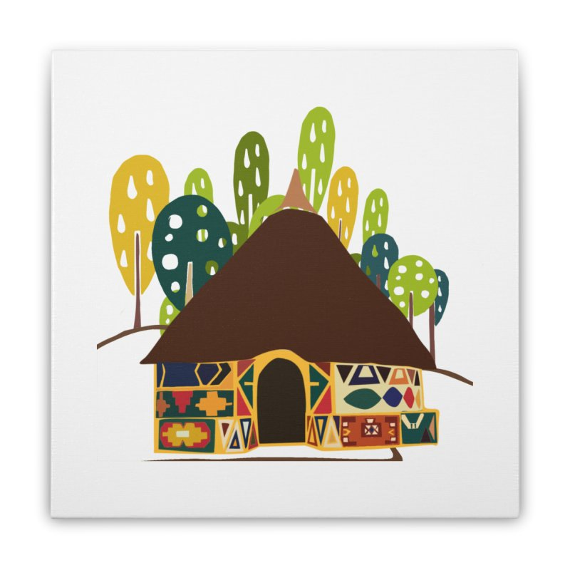 Abode Home Stretched Canvas by aflowerchild's Artist Shop
