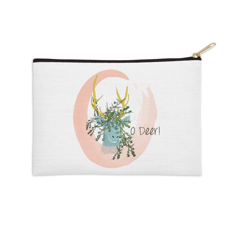 O Deer Accessories Zip Pouch by aflowerchild's Artist Shop