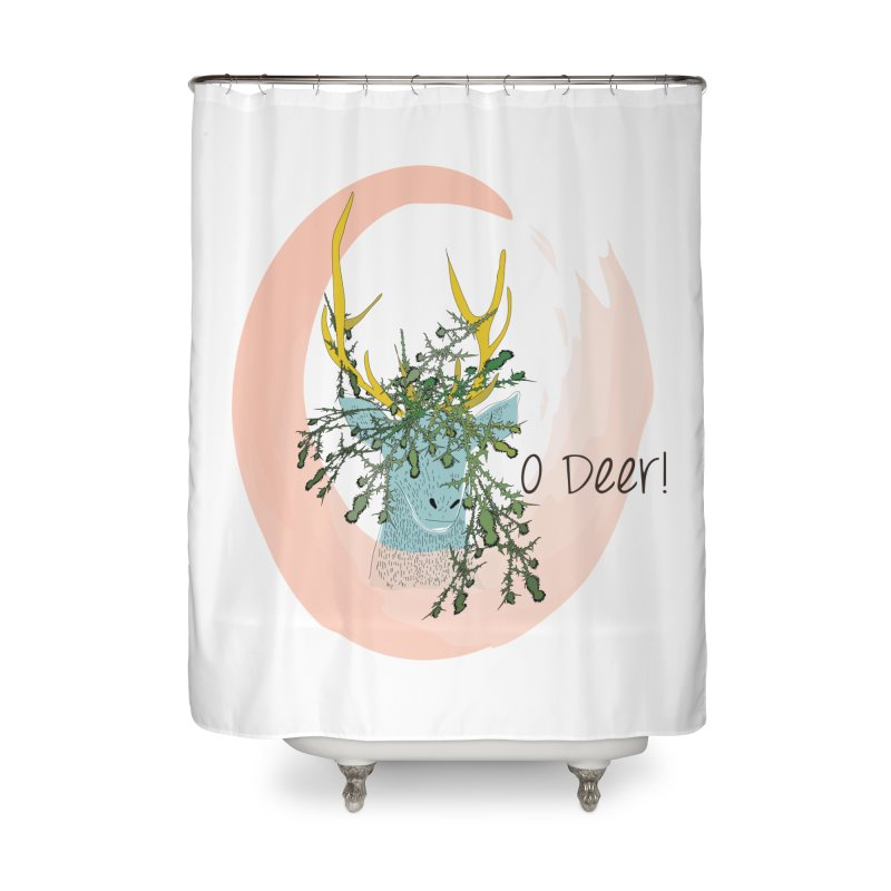 O Deer Home Shower Curtain by aflowerchild's Artist Shop