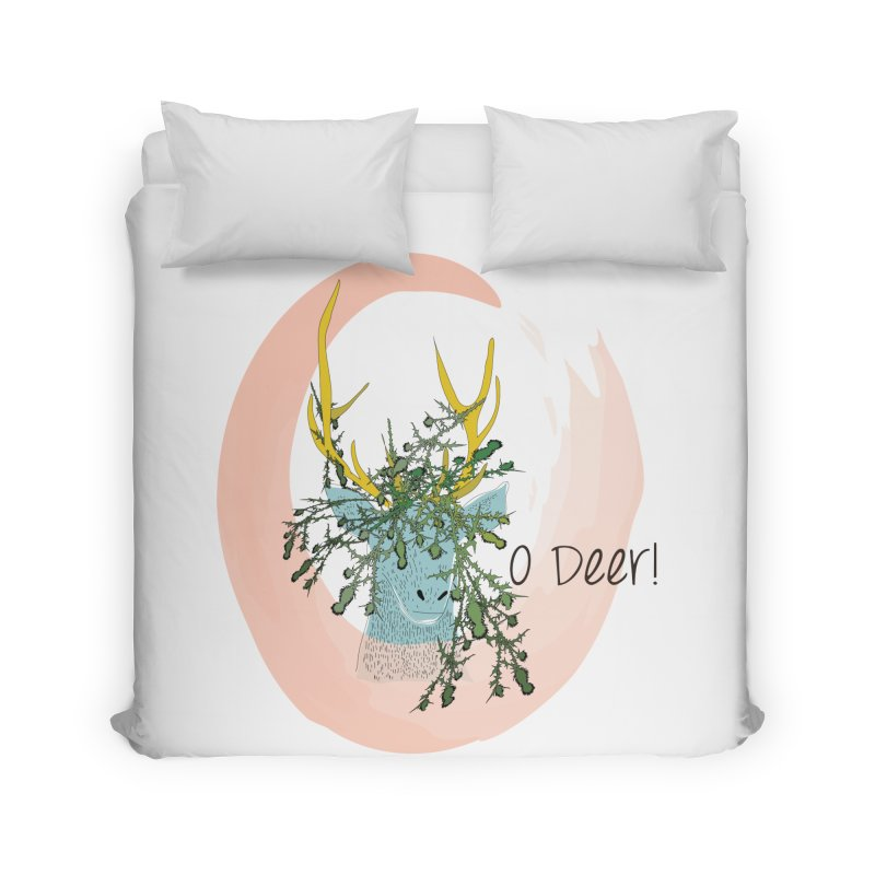 O Deer Home Duvet by aflowerchild's Artist Shop