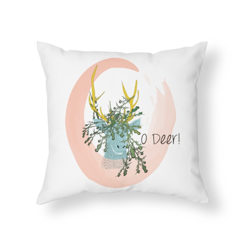O Deer Home Throw Pillow by aflowerchild's Artist Shop