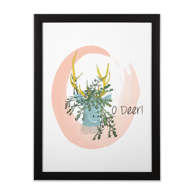 O Deer Home Framed Fine Art Print by aflowerchild's Artist Shop