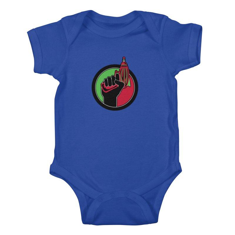 AfroGeeks Unite Kids Baby Bodysuit by afrogeek's Artist Shop
