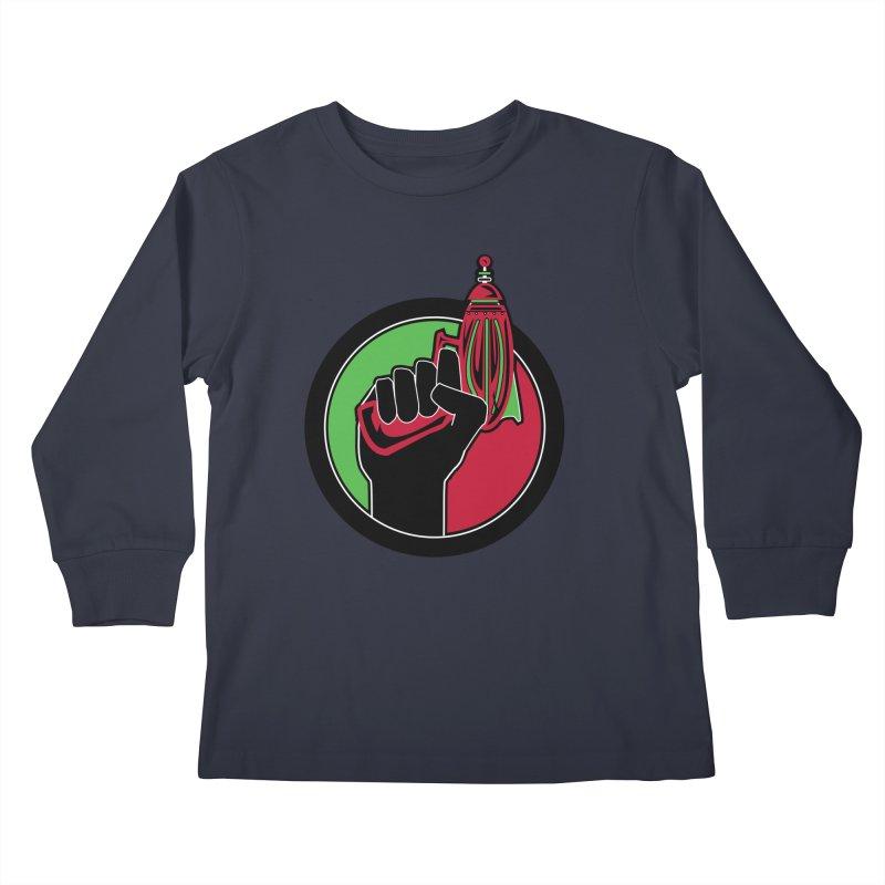 AfroGeeks Unite Kids Longsleeve T-Shirt by afrogeek's Artist Shop