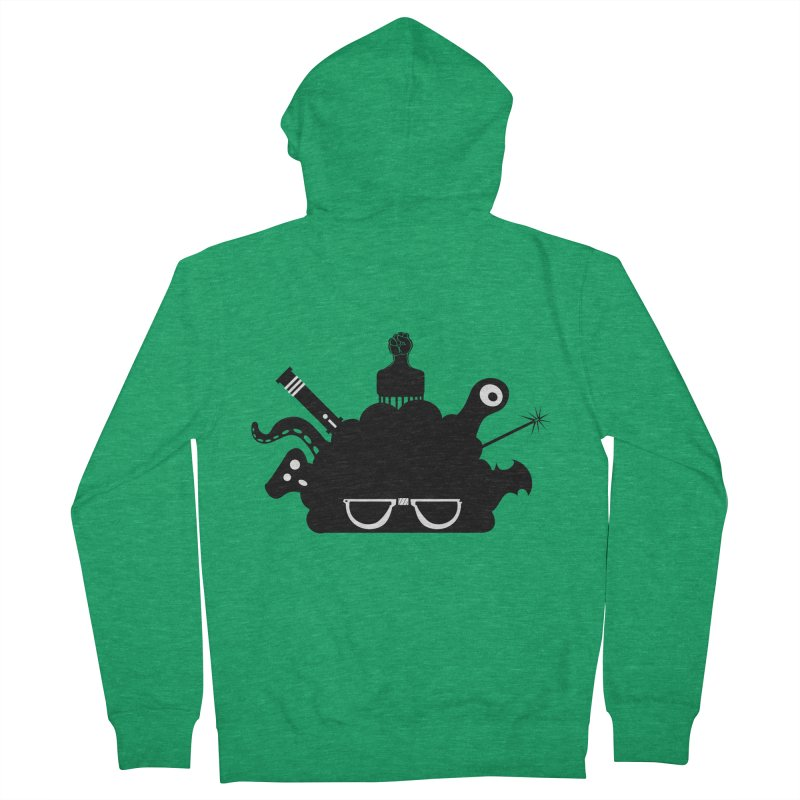 AfroGeek Thoughts Women's French Terry Zip-Up Hoody by afrogeek's Artist Shop