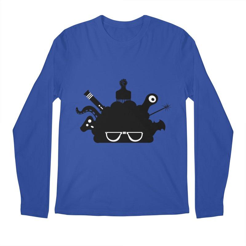 AfroGeek Thoughts Men's Regular Longsleeve T-Shirt by afrogeek's Artist Shop