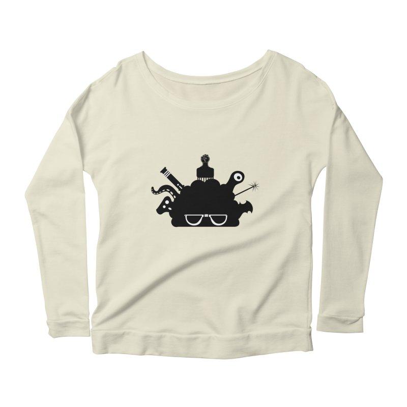 AfroGeek Thoughts Women's Scoop Neck Longsleeve T-Shirt by afrogeek's Artist Shop