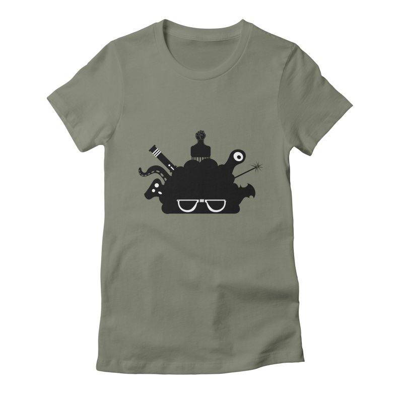 AfroGeek Thoughts Women's Fitted T-Shirt by afrogeek's Artist Shop