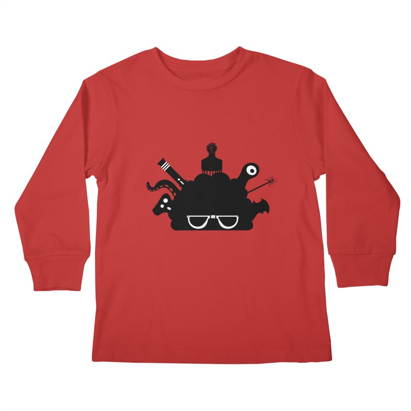 AfroGeek Thoughts Kids Longsleeve T-Shirt by afrogeek's Artist Shop