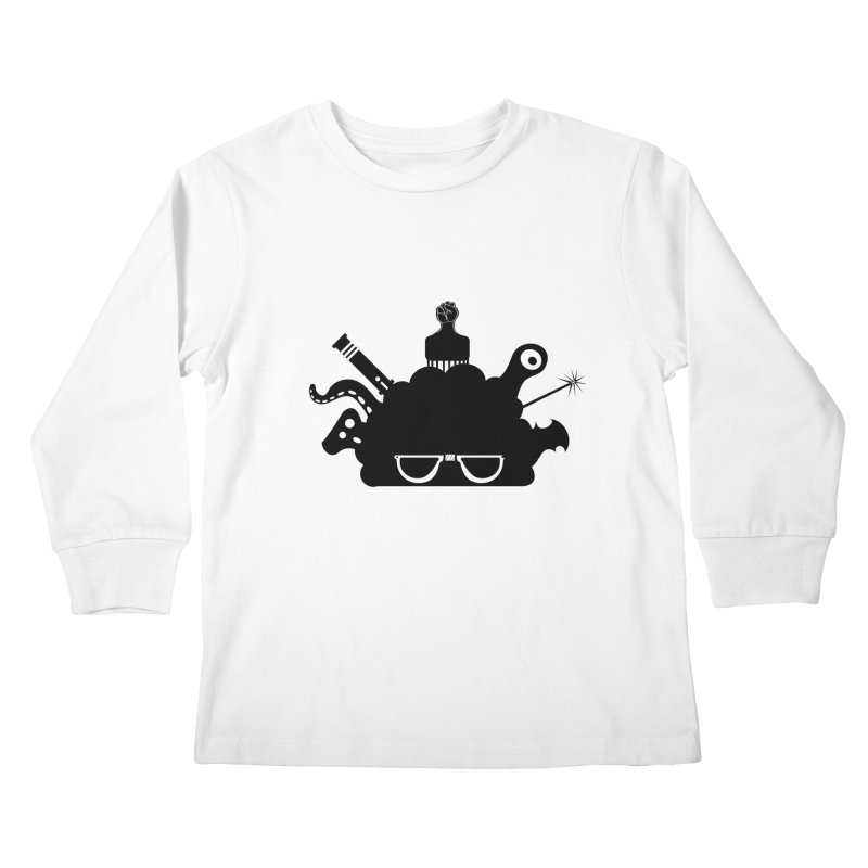 AfroGeek Thoughts Kids Longsleeve T-Shirt by afrogeek's Artist Shop