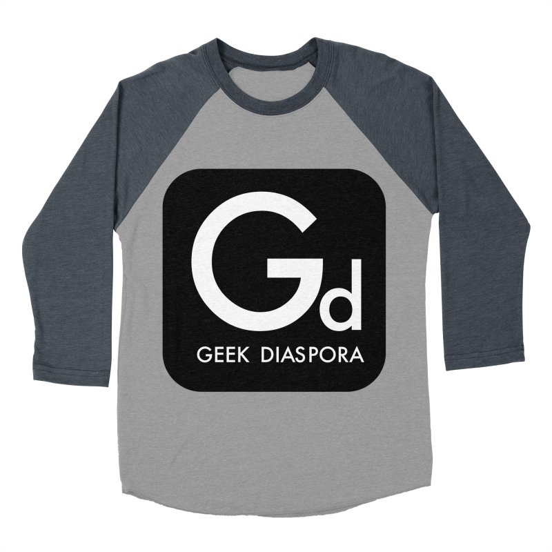 Geek Diaspora Men's Baseball Triblend T-Shirt by afrogeek's Artist Shop