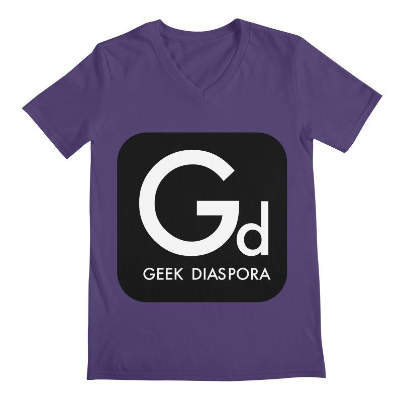 Geek Diaspora Men's V-Neck by afrogeek's Artist Shop