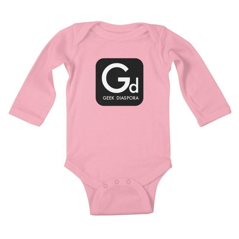Geek Diaspora Kids Baby Longsleeve Bodysuit by afrogeek's Artist Shop