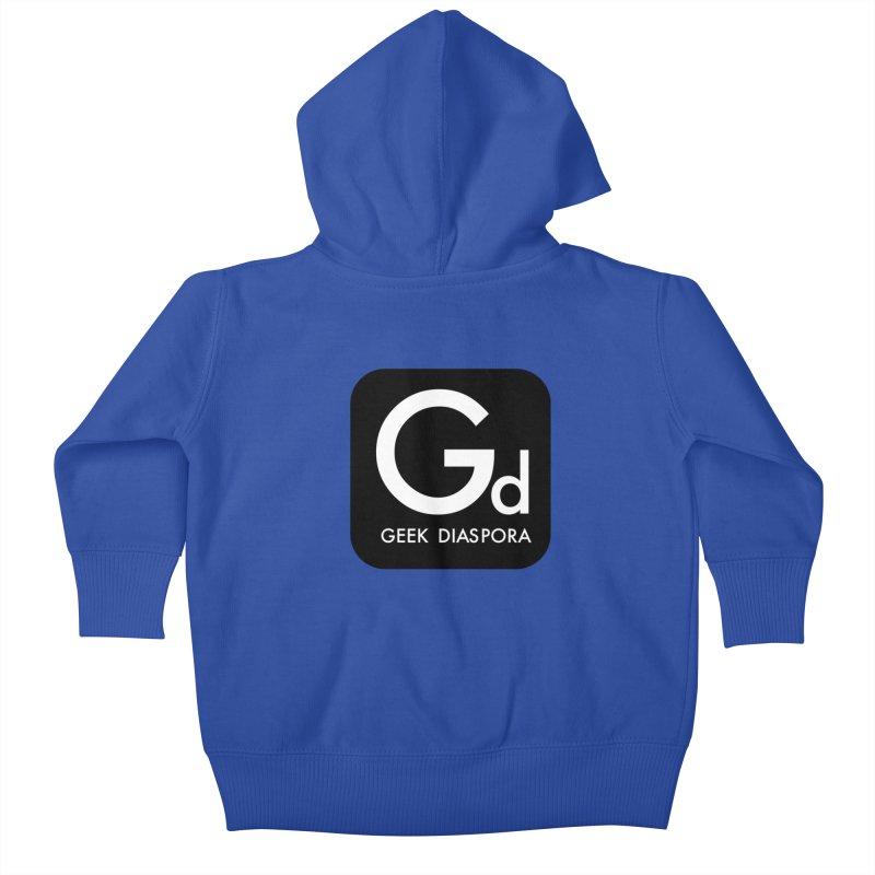 Geek Diaspora Kids Baby Zip-Up Hoody by afrogeek's Artist Shop