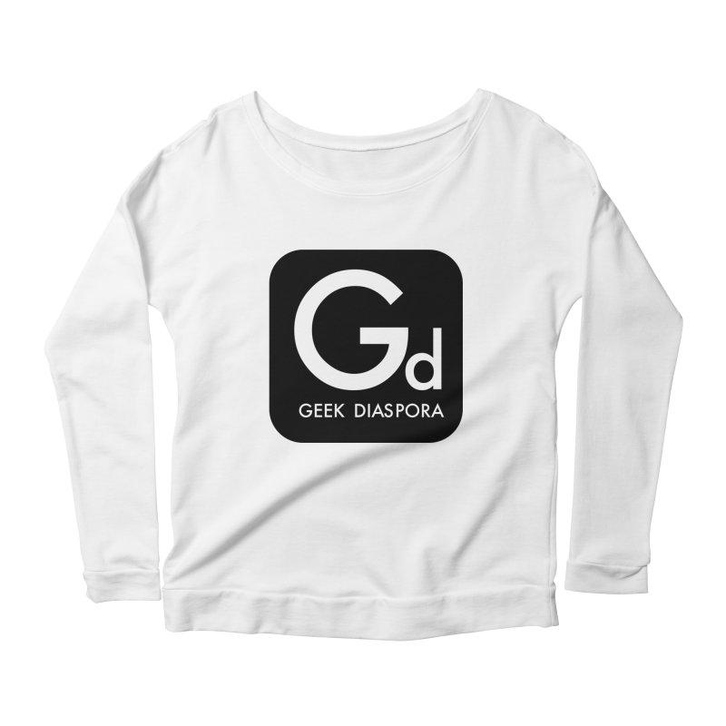 Geek Diaspora Women's Scoop Neck Longsleeve T-Shirt by afrogeek's Artist Shop
