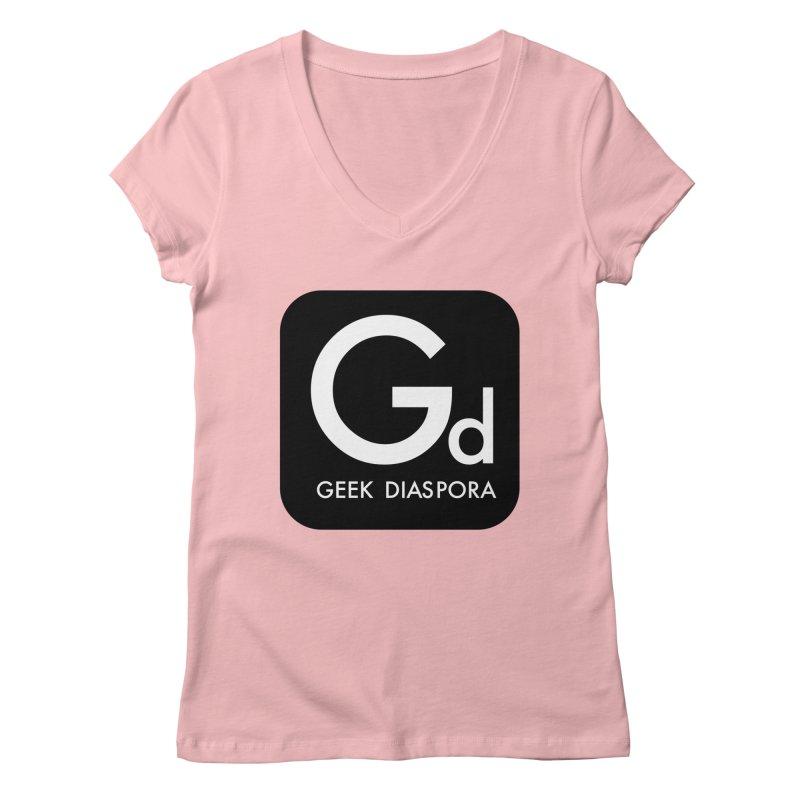Geek Diaspora Women's Regular V-Neck by afrogeek's Artist Shop