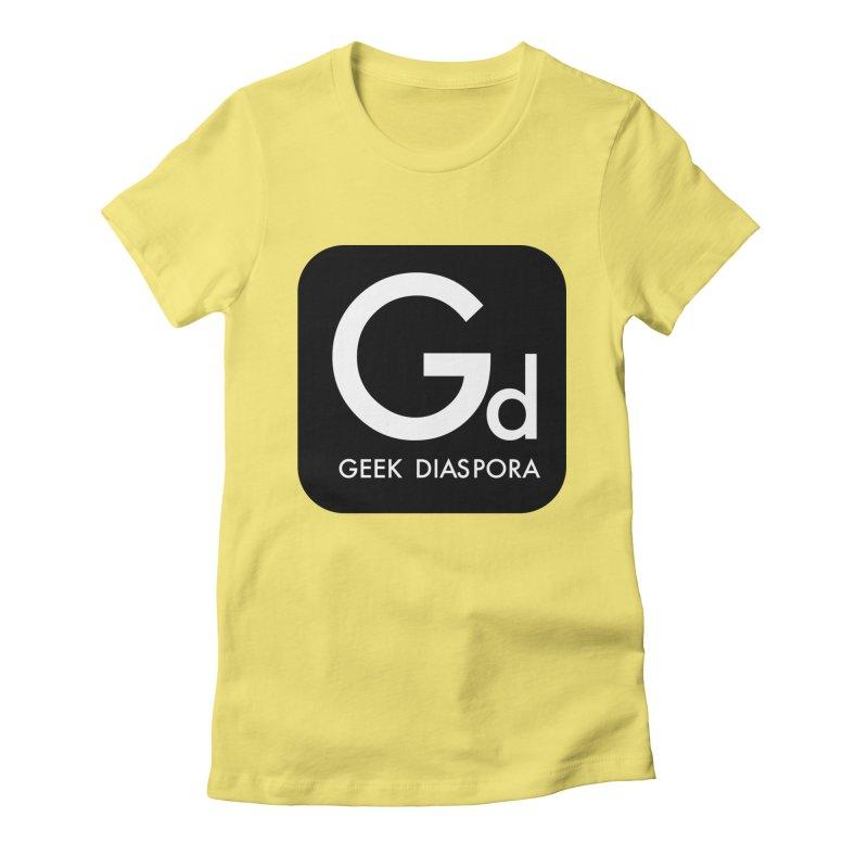 Geek Diaspora Women's Fitted T-Shirt by afrogeek's Artist Shop