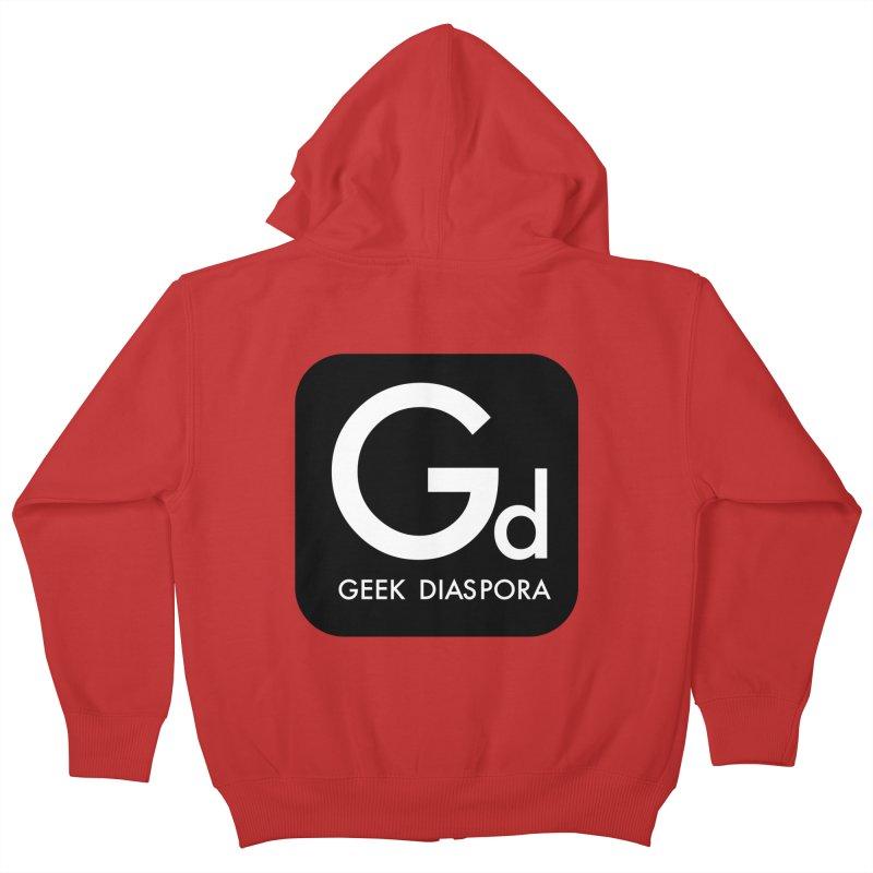 Geek Diaspora Kids Zip-Up Hoody by afrogeek's Artist Shop