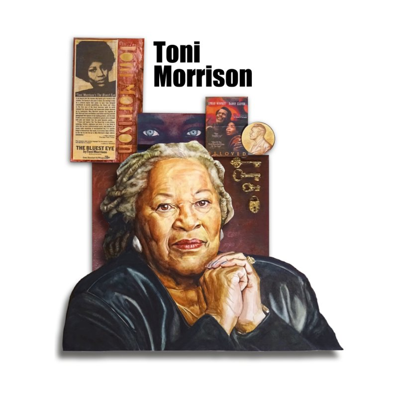 Toni Morrison Men's T-Shirt by Afro Triangle's