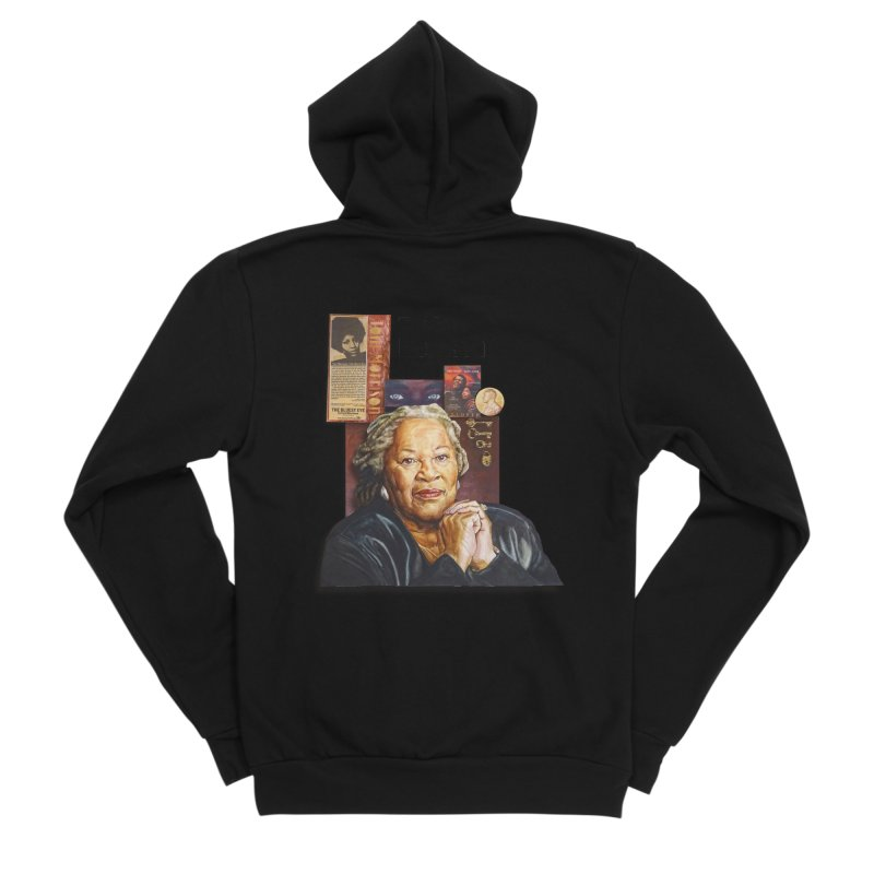 Toni Morrison Women's Sponge Fleece Zip-Up Hoody by Afro Triangle's