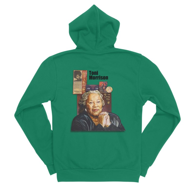 Toni Morrison Men's Sponge Fleece Zip-Up Hoody by Afro Triangle's