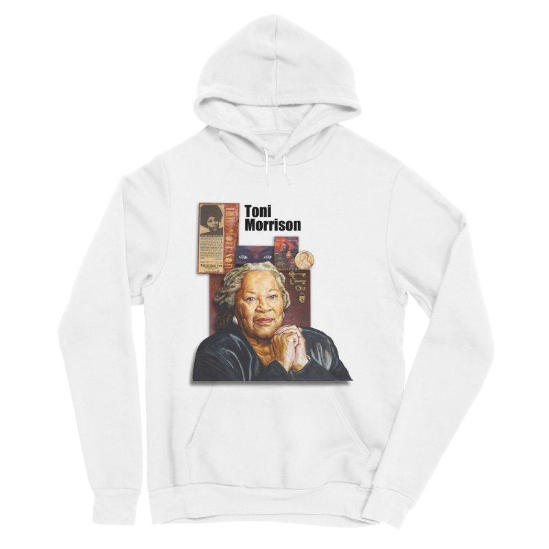 Toni Morrison Men's Sponge Fleece Pullover Hoody by Afro Triangle's