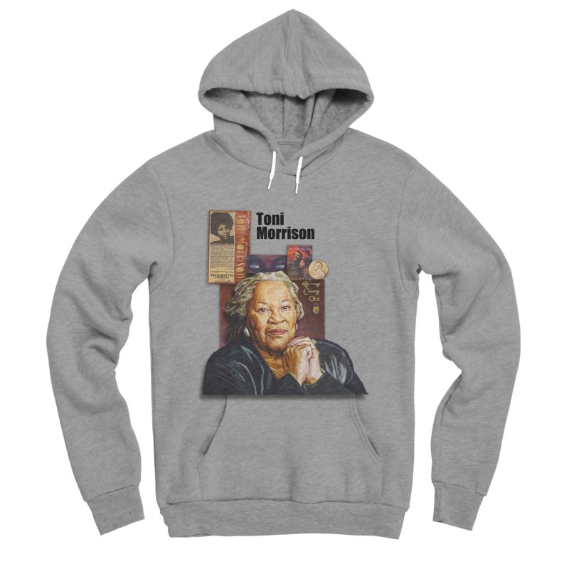 Toni Morrison Men's Sponge Fleece Pullover Hoody by Afro Triangle's