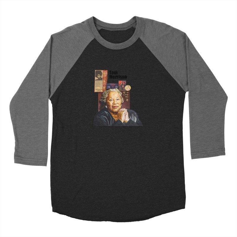 Toni Morrison Women's Baseball Triblend Longsleeve T-Shirt by Afro Triangle's