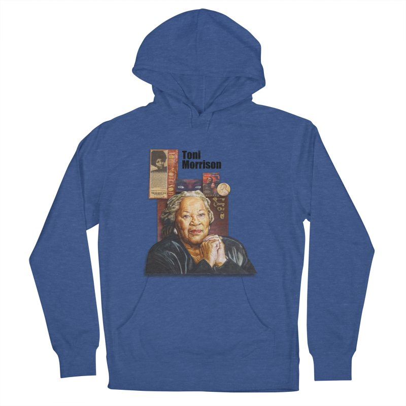Toni Morrison Men's French Terry Pullover Hoody by Afro Triangle's