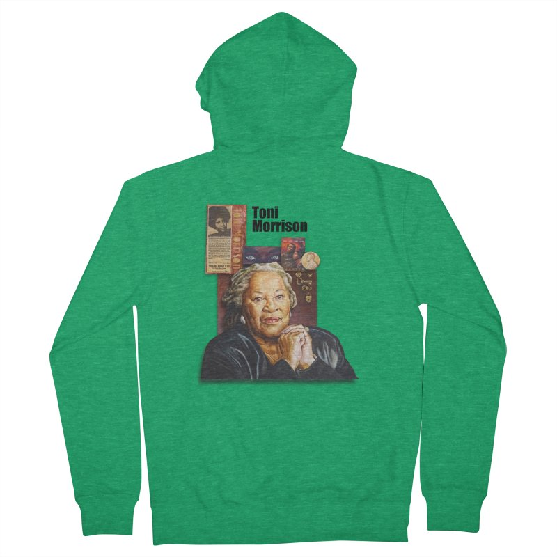 Toni Morrison Women's Zip-Up Hoody by Afro Triangle's