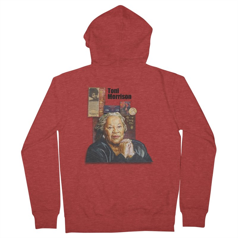Toni Morrison Women's French Terry Zip-Up Hoody by Afro Triangle's