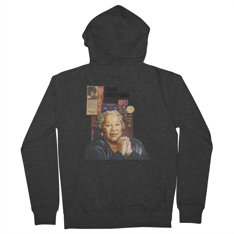 Toni Morrison Men's French Terry Zip-Up Hoody by Afro Triangle's