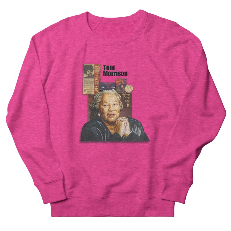 Toni Morrison Men's French Terry Sweatshirt by Afro Triangle's