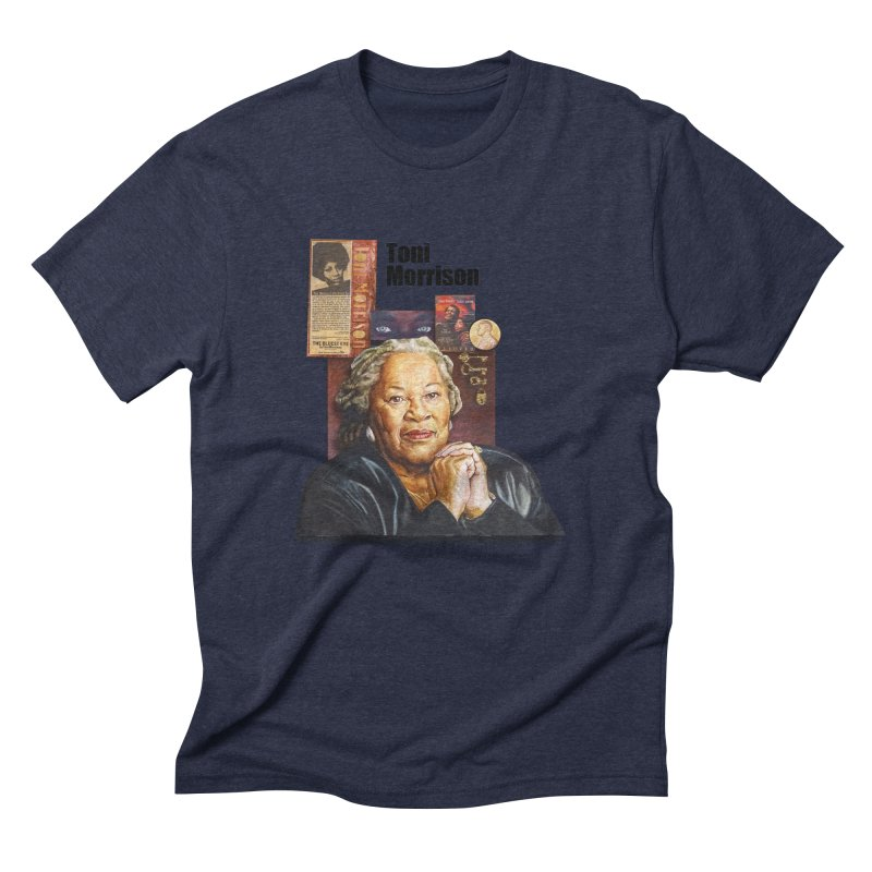 Toni Morrison Men's Triblend T-Shirt by Afro Triangle's