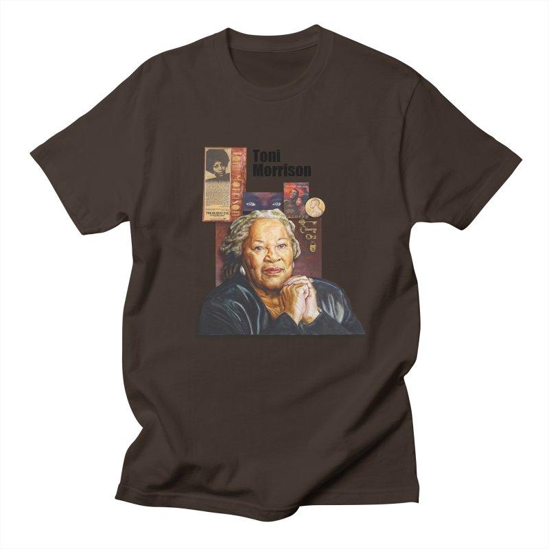 Toni Morrison Men's Regular T-Shirt by Afro Triangle's
