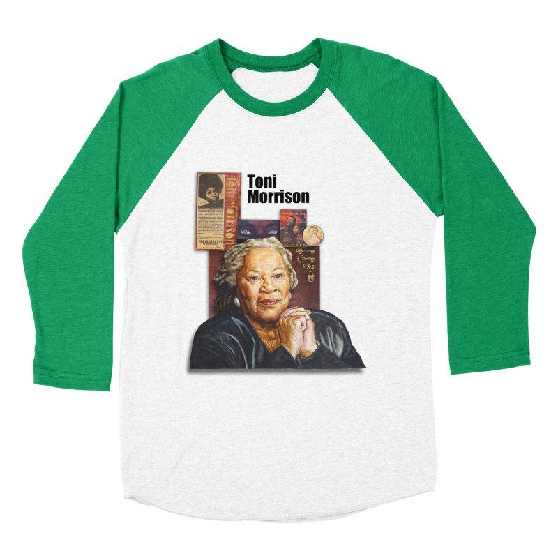 Toni Morrison Men's Baseball Triblend Longsleeve T-Shirt by Afro Triangle's