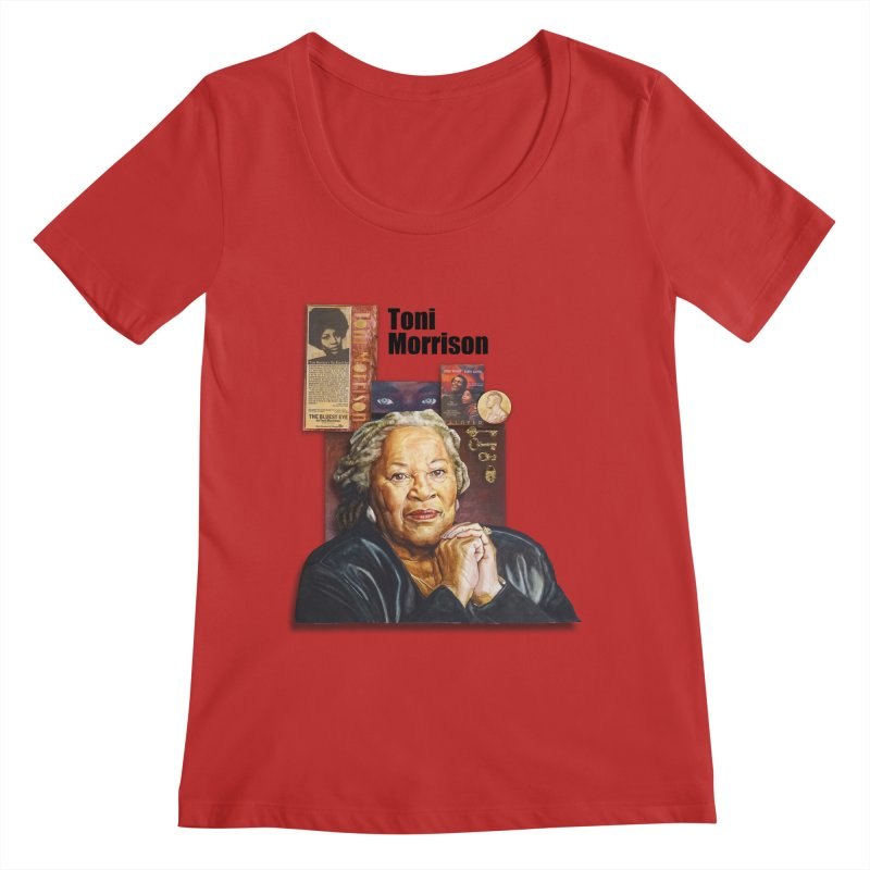 Toni Morrison Women's Regular Scoop Neck by Afro Triangle's