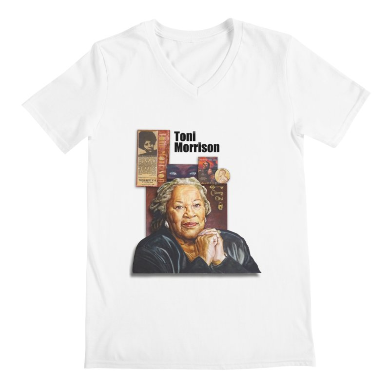 Toni Morrison Men's V-Neck by Afro Triangle's